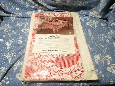 $ CDN46.66 • Buy Vintage Quaker Lace Tablecloth Christmas Medley Pattern Oblong 52 X 70 White NEW