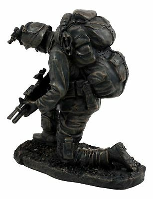 $36.99 • Buy Pray To God Brave Soldier In Combat Military Army Veteran Figurine Statue