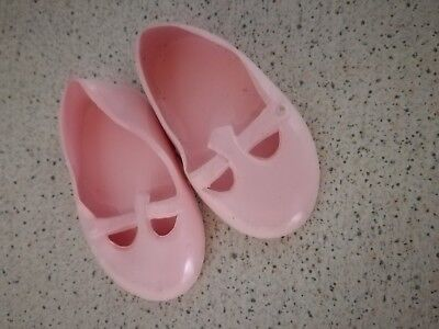 SIZE 1 PINK PLASTIC CINDERELLA SHOES FOR VINYL DOLLS FITS 55 Mm FOOT • 3.95£