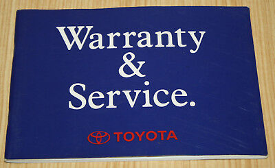 AU39.99 • Buy Toyota Land Cruiser Models With 1FZ-FE Engines Warranty & Service Booklet