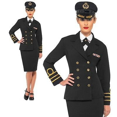 WW2 Navy Officer Costume 1940s Sailor Uniform Womens Ladies Fancy Dress S-XL • 29.99£