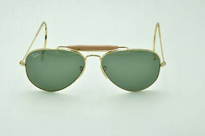 33510fe8b9 Ray Ban RB 3030 Aviator OUTDOORSMAN L0216 Sunglasses Gold   Green Lenses  58mm • 96.95