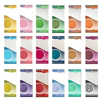 TEXTURE MATS By PME - Impression Mats - 16 DIFFERENT DESIGNS - CAKE DECORATION • 2.62£