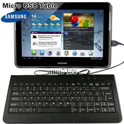 Micro USB Leather Keyboard Plug And Play For 9.7  10  Samsung Galaxy Tab A E S • 5.49£