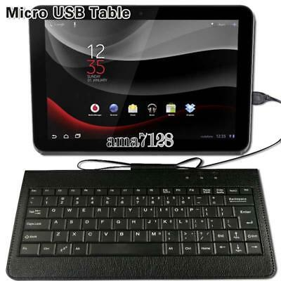 £5.99 • Buy Universal Micro USB Leather Wired Keyboard Plug And Play For Various 10  Tablet