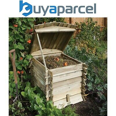 Rowlinson Beehive Wooden Garden Composter Compost Bin Natural Timber • 118.44£