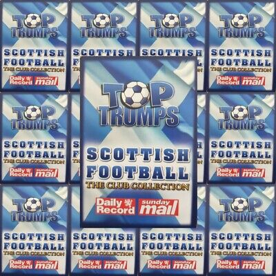 Top Trumps Sunday Mail Scottish Football Club Collection Single Cards – Various • 3.20£
