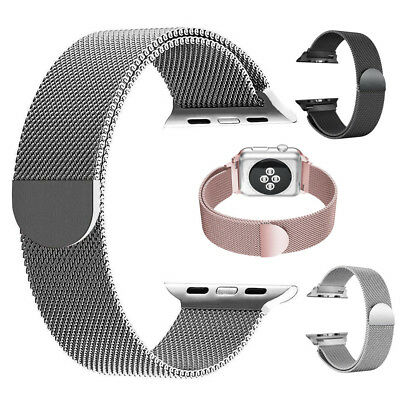 AU16.49 • Buy Milanese Loop Mesh Stainless Steel Magnetic Band Strap For Apple Watch 1/2/3/4