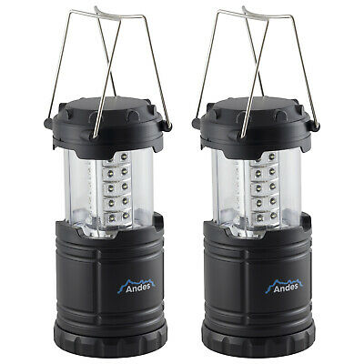 2 X Andes LED Collapsible Camping Tent Light Portable Fishing Lantern Lamp • 9.99£