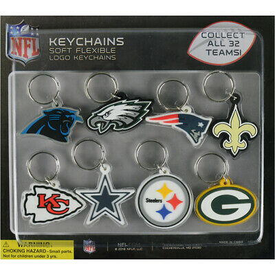 $2.49 • Buy Nfl Football Team Decal Logo Soft Pvc Keyring, Keychain 32 Teams Super Bowl Key