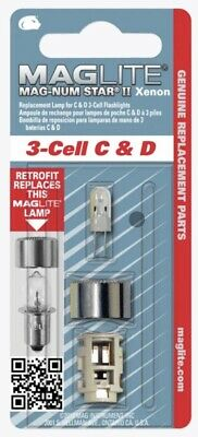 MAGLITE Mag-Num Star II Xenon Bulb For 3-Cell C & D Torch LMXA301U NEW & SEALED • 9.39£