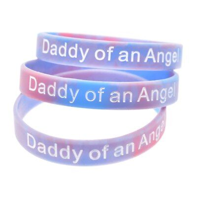 £3.99 • Buy X2 Daddy Of An Angel Wristband Silicone Bracelet Wristbands Child Baby Loss UK