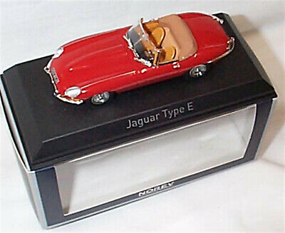 Jaguar E Type Cabriolet 1961 Carmin Red Norev 270062 1-43 Scale New In Box • 31.95£