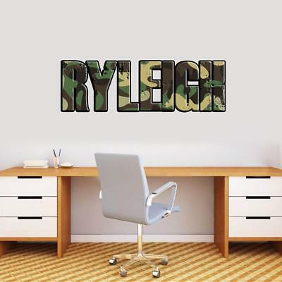 $12.10 • Buy Military Camouflage Pattern PERSONALIZED NAME WALL STICKER Home Decor Art WP47