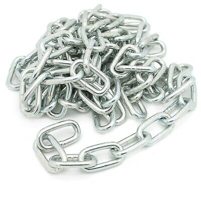 2 METRE LONG 4MM THICK STEEL CHAIN Large Heavy Duty Outdoor Welded Hanging Link • 5.47£