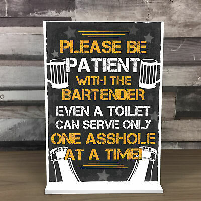 £4.99 • Buy Funny Bar Signs And Plaques Home Bar Pub Novelty Standing Beer Alcohol Plaque