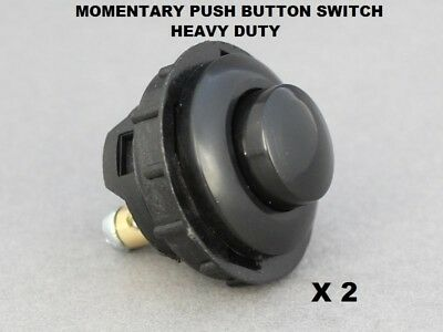 £7.95 • Buy 2 X Momentary Button Switch Heavy Duty Push ON 16A-12V Vandal Proof 26mm Hole