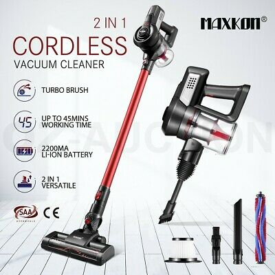 AU139.95 • Buy MAXKON Vacuum Cleaner 2-Speed Cordless 2in1 Upright Stick Vac Bagless Recharge