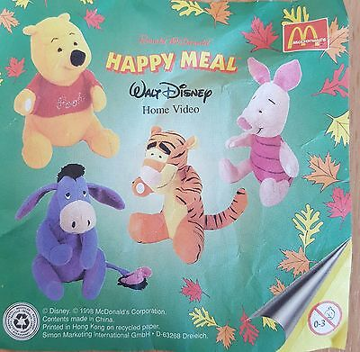 McDonalds Happy Meal Toy 1998 Winnie The Pooh + Friends Sticky Paws - Various • 3.45£