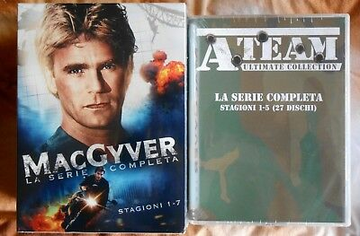 $294.03 • Buy Box Set 65 Dvd Macgyver Mac Gyver A Team Ateam Serie Completa Complete Series Us