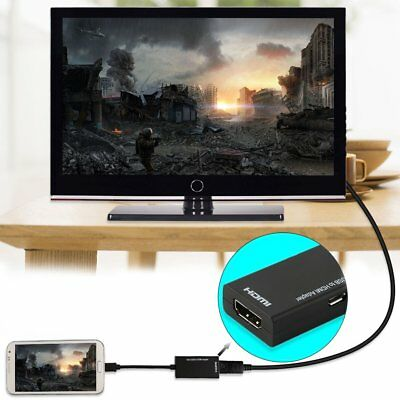 AU5.62 • Buy Universal Mhl Micro Usb To Hdmi Cable 1080 P Hd Tv Adapter For Android Phones