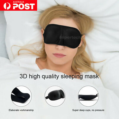 AU3.85 • Buy 3D Soft Sleeping Eye Mask Memory Foam Padded Shade Cover Relax Sleep Blindfold