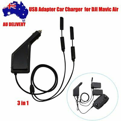 AU30.99 • Buy For DJI Mavic Air Remote Control 3 In 1 Car Charger Adapter Battery Charging Hub