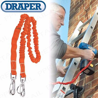 3KG TOOL LANYARD Heavy Duty Safety Elastic Bungee Harness Belt Attachment Line • 13.09£