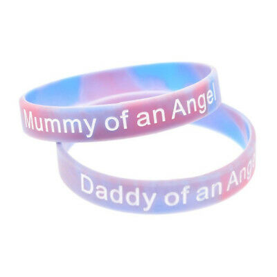 £2.49 • Buy Mummy Daddy Sister Nana Of An Angel Silicone Family Wristbands Child Baby Loss