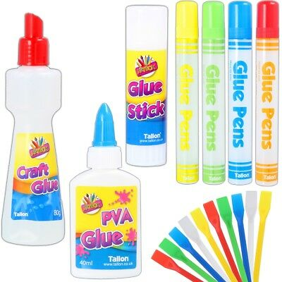GLUE/SPATULA SPREADER CHOOSE PVA Stick Craft Water Based NON TOXIC Kids Art Safe • 3.59£