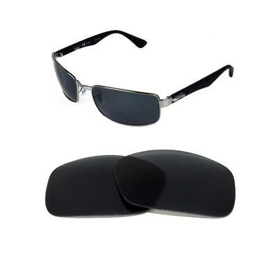 2d389b774c NEW POLARIZED REPLACEMENT BLACK LENS FIT RAY BAN RB3364 62mm SUNGLASSES •  31.23