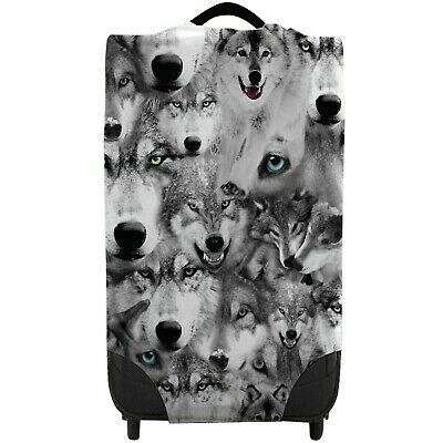 All Over Wolves Design Caseskinz Suitcase Cover *SUITCASE NOT INCLUDED* Animal • 16.99£