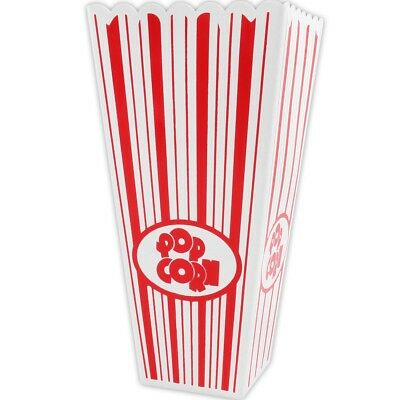 4x FAMILY PACK POPCORN HOLDERS Movie Film Night Cinema Snack Bowl Tub Box Sweets • 7.60£