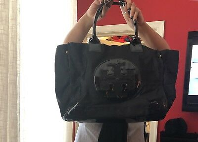 d9d259d323a1 Tory Burch Ella Nylon Large Tote Black - TB50009811-009 • 94.00