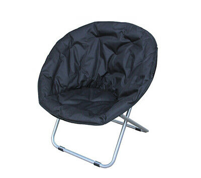 AU50.99 • Buy BN Camping Outdoor Moon Chair Oval Roundabout Papasan Chair Black