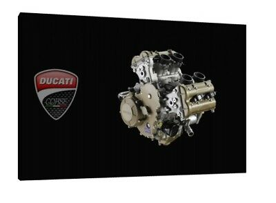AU70.10 • Buy Ducati Desmosedici V4 Engine - 30x20 Inch Canvas Art Framed Picture Print