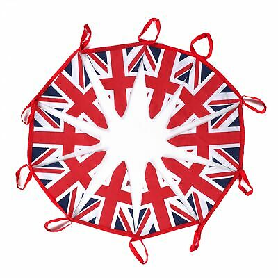 £9.99 • Buy 10 Meters Decor British Union Jack 100% Cotton Double Sided Patriotic Bunting
