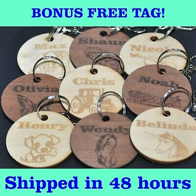 AU15.70 • Buy Personalised Childrens Wooden School Bag Tag