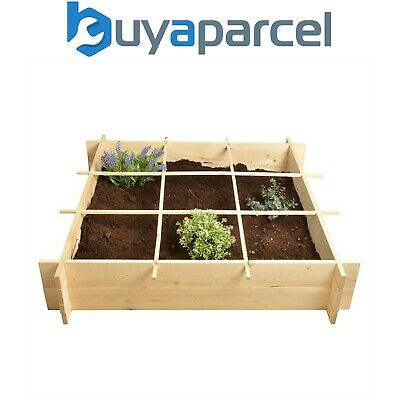 Fallen Fruits Wooden Square Metre Garden Raised Bed Vegetable Garden FSC • 34.49£