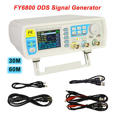 FY6800 30/60M Digital Dual-Ch Function Signal Generator Counter Frequency Meter • 99.31$