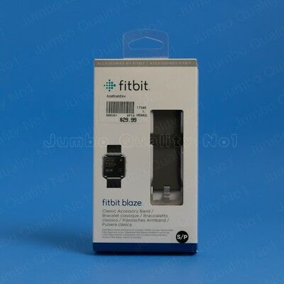 AU33.91 • Buy Genuine Fitbit Replacement Band For BLAZE (Accessory Classic Leather Metal Slim)