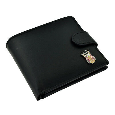 Leather Wallet With Wise Owl With Mortar Board For Graduate Or Teacher XLW1C016 • 16.99£