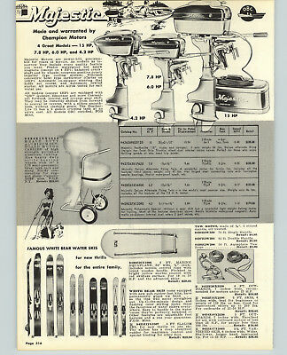 $14.97 • Buy 1957 PAPER AD Majestic Outboard Motor 15 7.8 6 4.2 HP Montague Fishing Rod