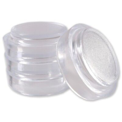 4x SMALL CLEAR FURNITURE CASTOR CUPS | Anti Marks & Indents Floor Protectors • 3.24£