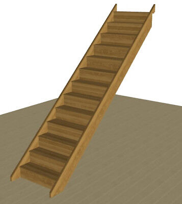 £1455 • Buy Solid Oak Straight Staircase - Made To Order * SPECIAL DEAL