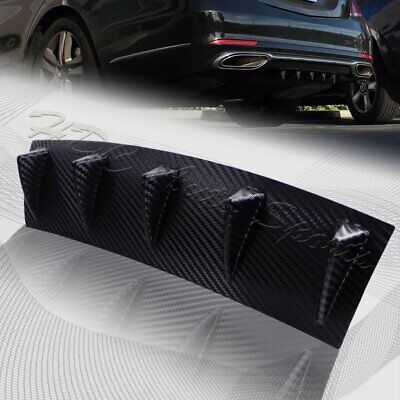 $18.99 • Buy 1 X Carbon Style Rear Lower Bumper Diffuser Fin Spoiler Lip Wing Splitter 23 X6