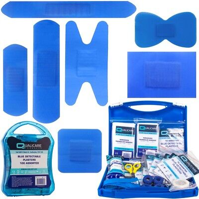 £15.17 • Buy BLUE DETECTABLE PLASTERS Assorted Food Safety Catering Kitchen First Aid Box Set