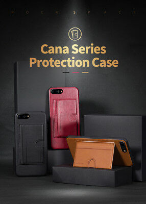 AU5.69 • Buy ROCK CANA Hybrid Card Slot Holder Kickstand Cover Case For IPhone X XS 7 8 Plus