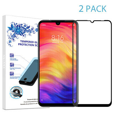 $7.59 • Buy 2X For Xiaomi Redmi Note 7 Full Cover Tempered Glass Screen Protector -Black