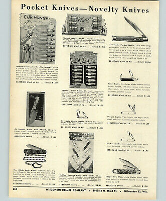 $ CDN12.55 • Buy 1956 PAPER AD Sure Snap Automatic Pocket Knife Knives Switch Blade Store Display